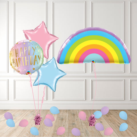 Inflated Pastel Rainbow Package - House Of Party
