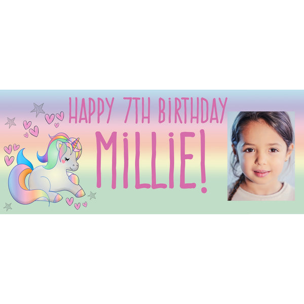 Personalised Pastel Unicorn Banner - House Of Party
