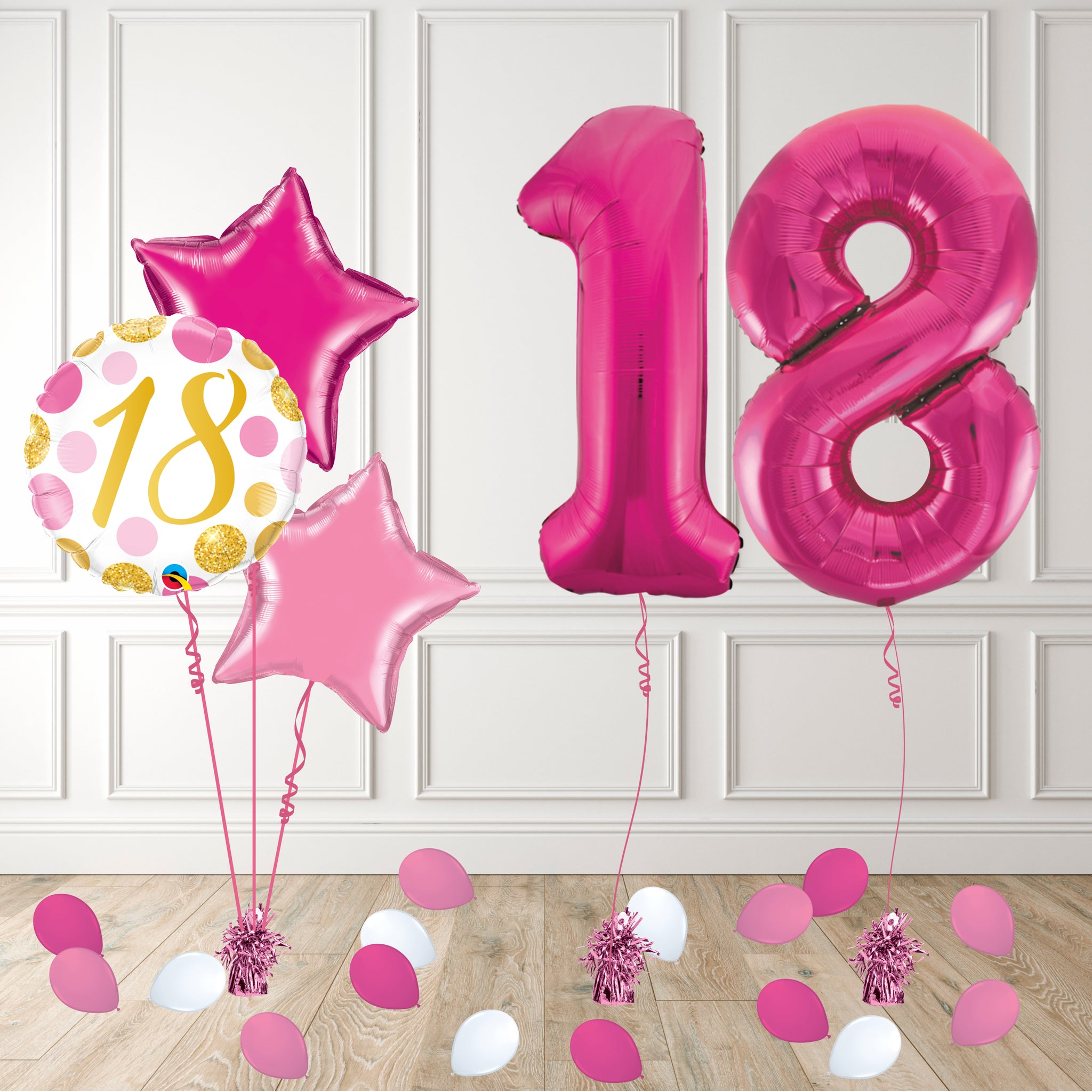 Inflated Pink 18 Balloon Package