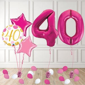 Inflated Pink 40 Balloon Package