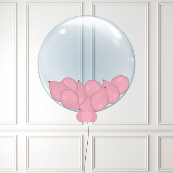 Inflated Light Pink Mini Balloon Bubble