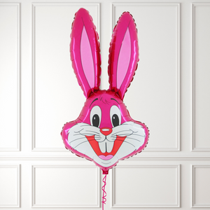 Easter Rabbit Head Pink Shape
