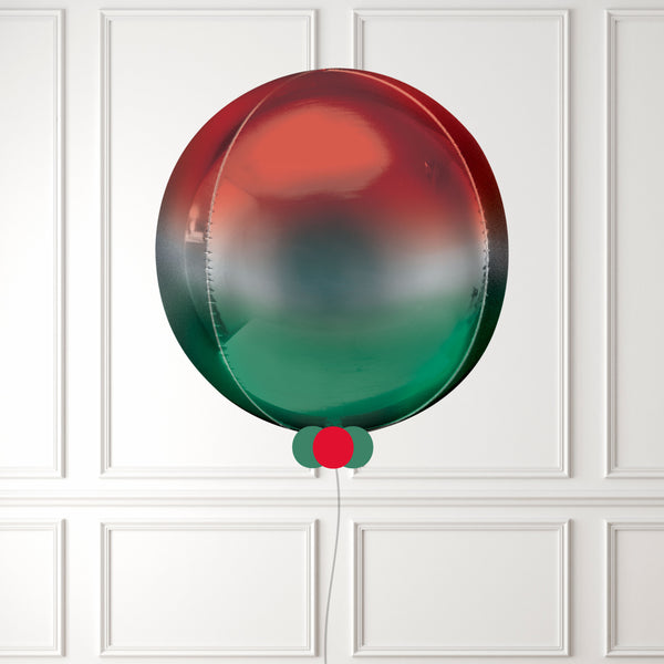 Inflated Red & Green Ombre Orbz