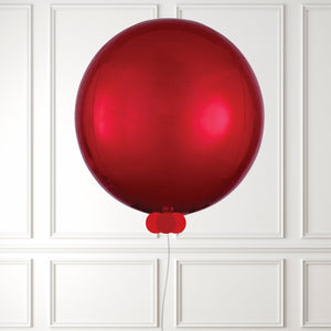 Inflated Red Mini Balloon Bubble