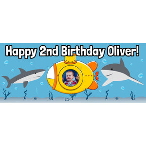 Personalised Submarine Shark Banner - House Of Party