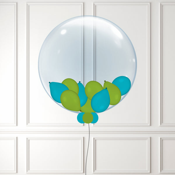 Inflated Teal & Green Balloon Bubble