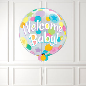 Inflated Welcome Baby Colorful Dots Bubble
