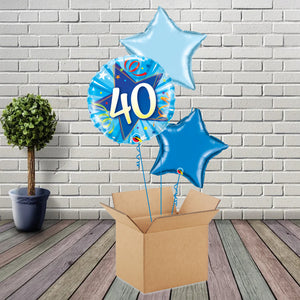 Inflated Blue Shining Star 40 Foil Bouquet - House Of Party