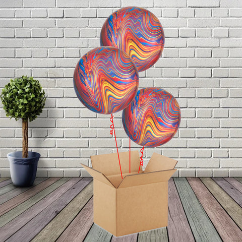 Inflated Colourful Marblez Bouquet - House Of Party