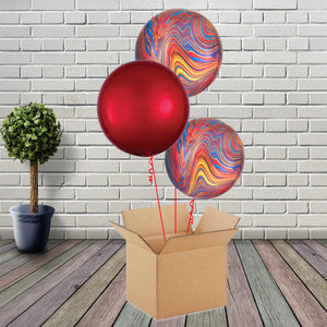 Inflated Colourful Marblez & Orbz Bouquet - House Of Party