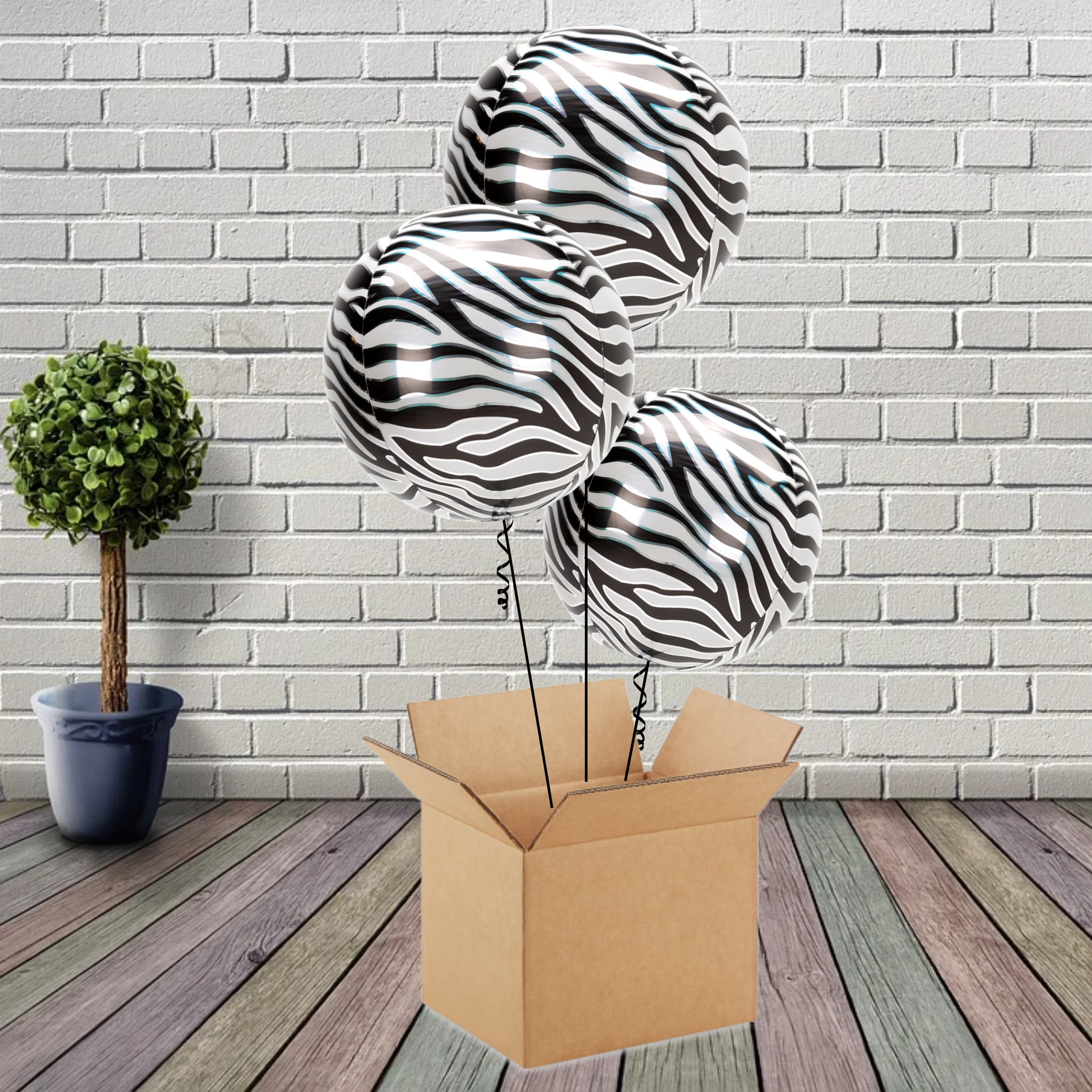 Inflated Animalz Zebra Print Bouquet - House Of Party