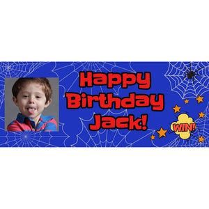 Personalised Spiderman Banner - House Of Party