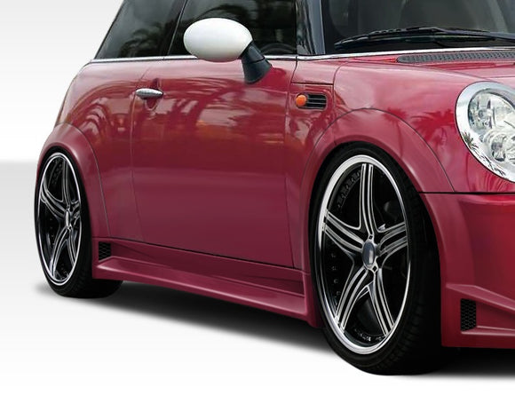 2002-2006 Mini Cooper / Cooper S R50 R53 Duraflex Type Z Wide Body Side Skirts Rocker Panels - 2 Piece