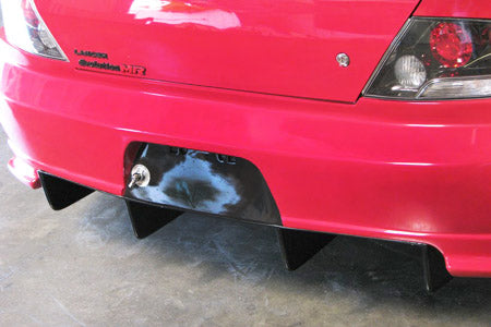 Carbon Fiber Rear Diffuser/APR Widebody Kit Bumper Only, 2003-2007 Mitsubishi Evo 8,9