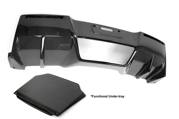 Carbon Fiber Rear Diffuser With Undertray, 2014-2019 Chevrolet Corvette