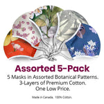 Load image into Gallery viewer, Adult Face Masks - Assorted 5 Pack