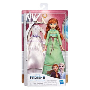 Hasbro Disney Frozen II Arendelle Fashions Anna Fashion Doll With Two Outfits