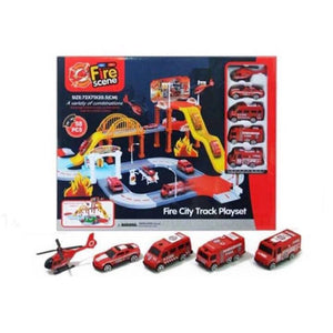 fire city track playset-(58 pcs)