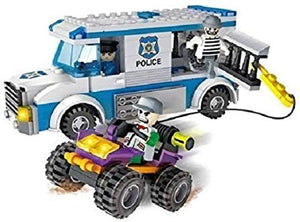 COGO CITY Police Chase Getaway Blocks Van Set of 261 pieces small blocks for kids
