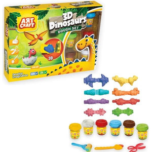 Art Craft 3D Dinasours Dough Set 03361