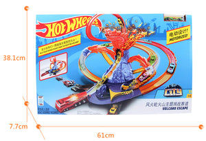Hot Wheels City Volcano Escape Connectable Play Set with Diecast and Mini Toy Car (1 piece)