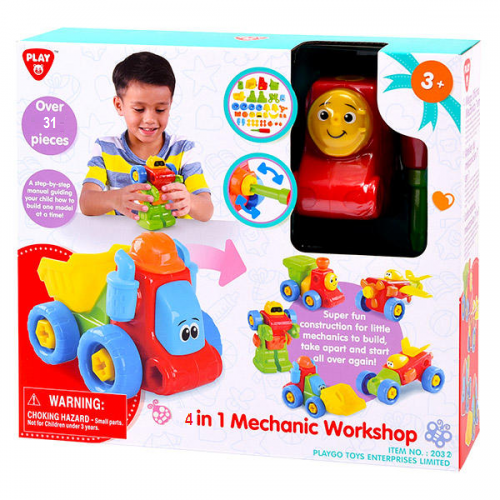 Playgo 4 in 1 Mechanic Workshop - One Shop Online Toys in Pakistan