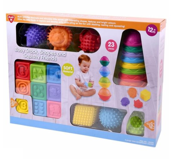 Playgo Busy Stack Shapes and Squishy Friends - One Shop Online Toys in Pakistan