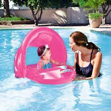 Bestway UV Careful Baby Care Inflatable Float with Removable Cover - Pink