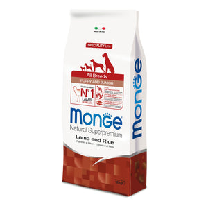 Monge Dog - SPECIALITY Line - Monoprotein - Puppy&Junior ALL BREEDS Lamb