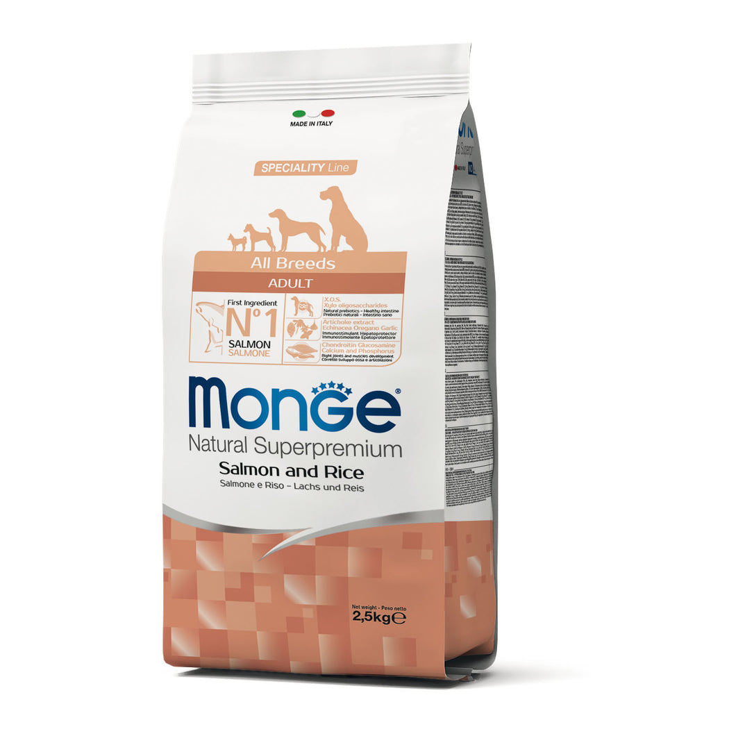 Monge Dog - SPECIALITY Line - Monoprotein - Adult ALL BREEDS Salmon
