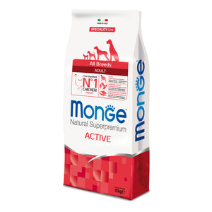 Monge Dog - SPECIALITY Line - Monoprotein - Adult ALL BREEDS  Active Chicken