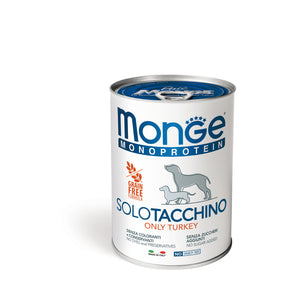 Monge Dog - GRAIN FREE - Monoprotein - Paté Turkey