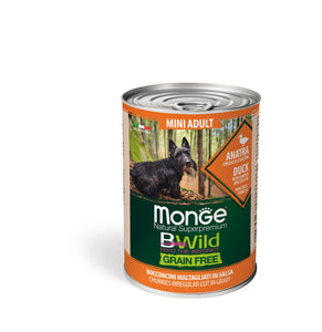 Monge Dog - BWild Wet - GRAIN FREE - Dog - Mini Adult Duck