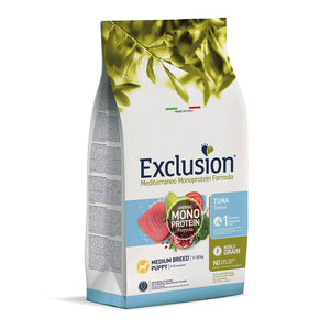 Exclusion Dog - MEDITERRANEAN Monoprotein - Puppy Medium Tuna
