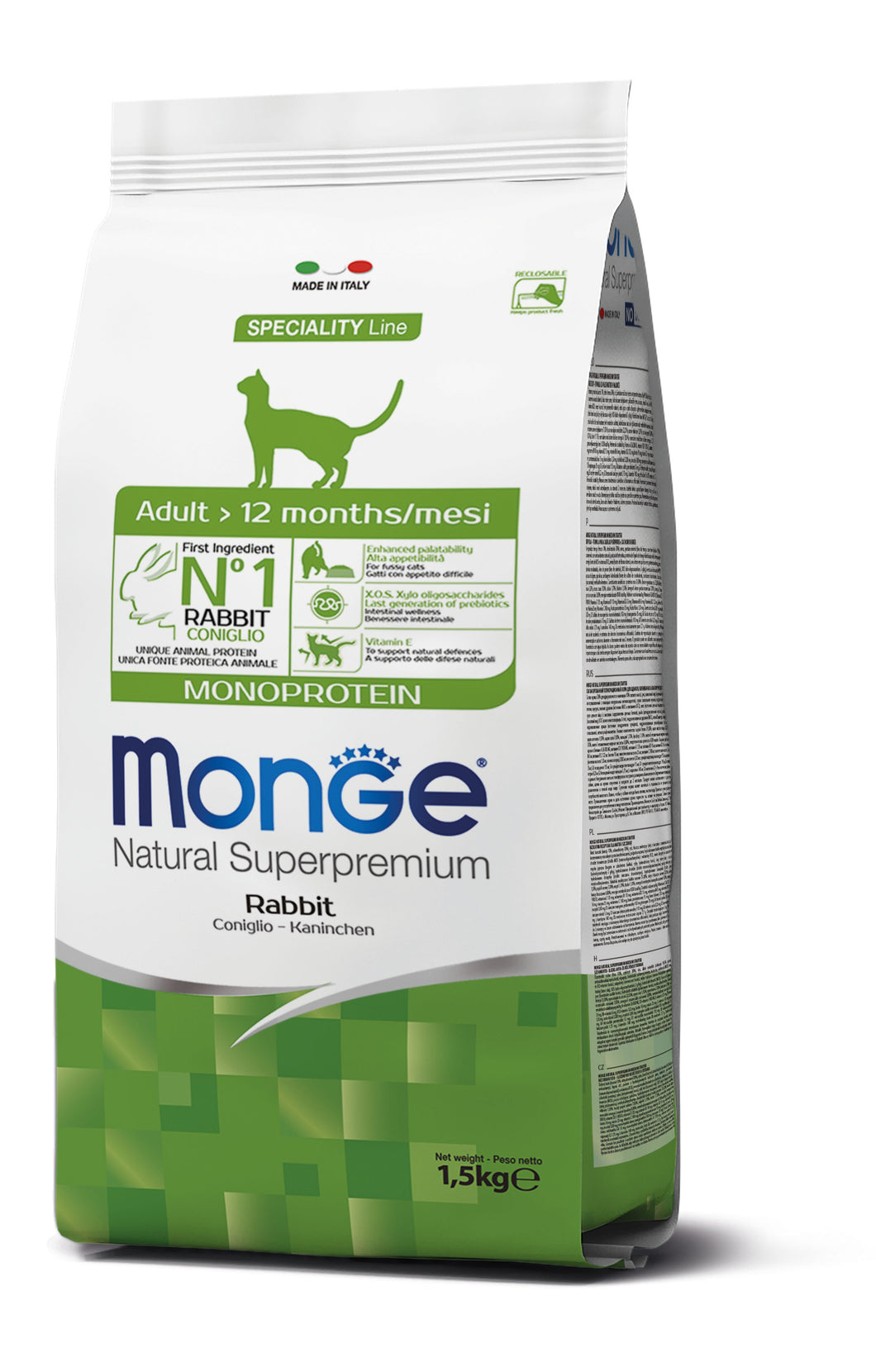 Monge Cat - Monoprotein Adult Rabbit