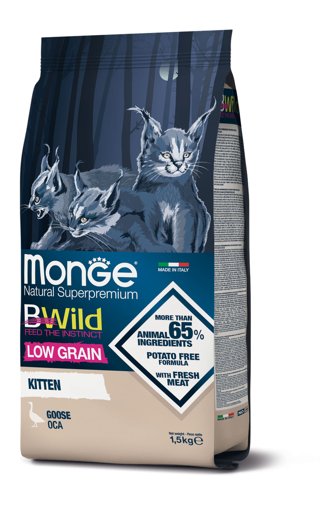 Monge Cat - BWild - LOW GRAIN - Kitten Goose