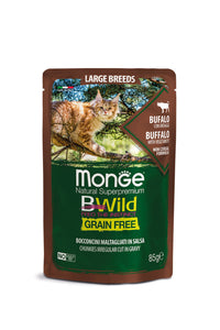 Monge Cat - Bwild - GRAIN FREE - LARGE Adult Buffalo