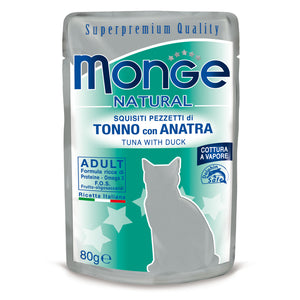 Monge Natural Cat - Tuna with duck in jelly