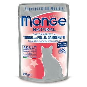 Monge Natural Cat - Tuna&chicken with shrimp in jelly