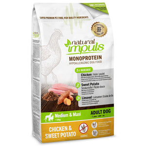 Natural Impulse Chicken with sweet potatoes