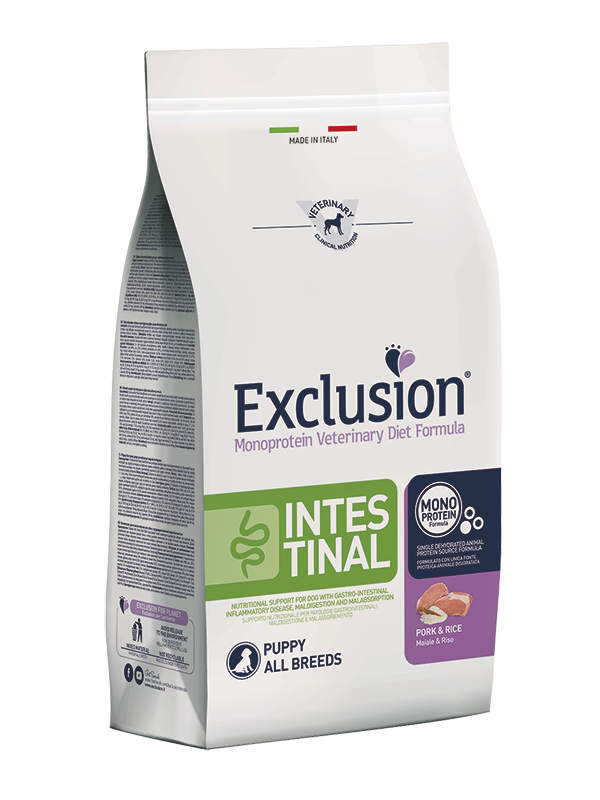 Exclusion Dog VET - INTESTINAL Monoprotein - Puppy All Breeds Pork