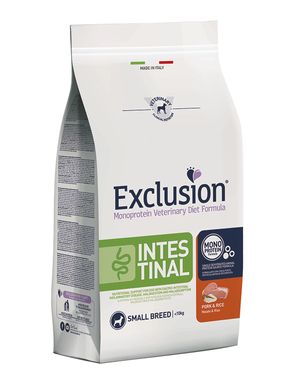 Exclusion Dog VET - INTESTINAL Monoprotein - Adult Small Pork