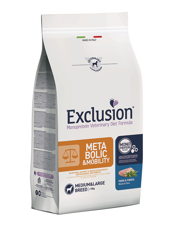 Exclusion Dog VET - METABOLIC Monoprotein - Adult Med&La Pork