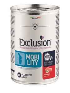 Exclusion Dog VET - MOBILITY Monoprotein - Adult All Breeds Pork