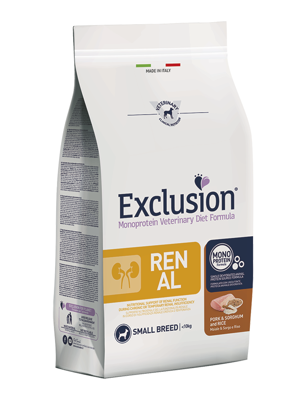 Exclusion Dog VET - RENAL Monoprotein - Adult Small Pork