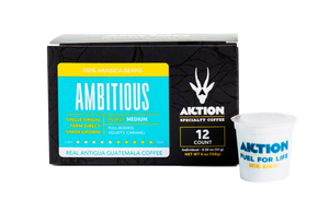 AMBITIOUS - Medium Roast (12 Single Serve Cups)