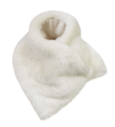 FAUX FUR ASYMMETRICAL SCARF