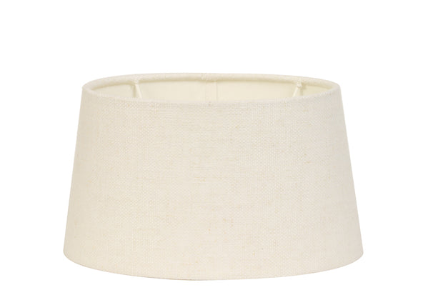 EGG WHITE LINEN ELLIPS SHADE 35 30 18