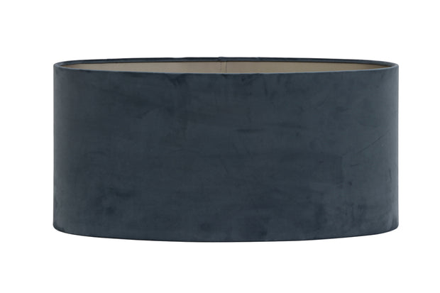 DUSTY BLUE VELVET OVAL SHADE 38 38 19
