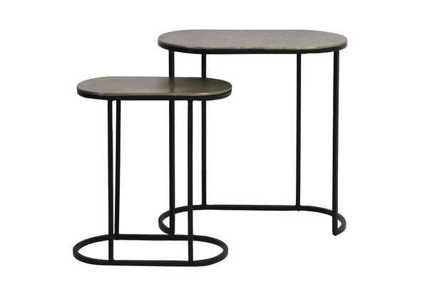 BRONZE & BLACK NEST OF TABLES